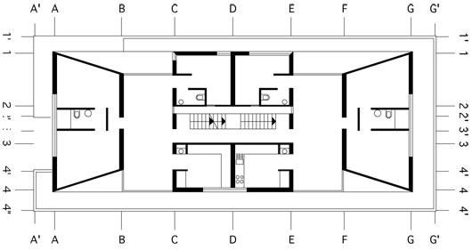 Motaleb Architekten Mehrfamilienhaus 50 50 Grundriss Obergeschoss